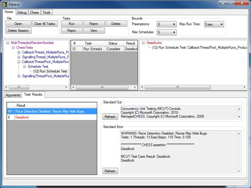 multithreading test framework